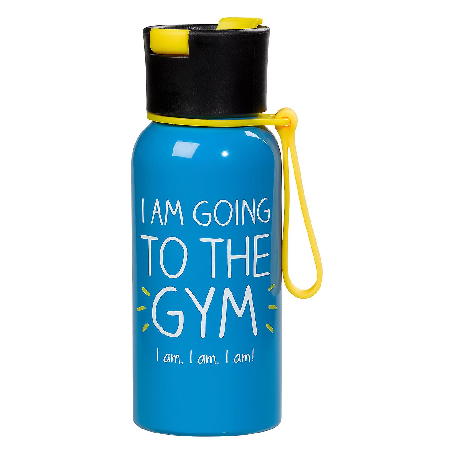 I Am Going To The Gym Water Bottle by Happy Jackson