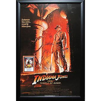 Indiana Jones and the Temple of Doom - Signed Movie Poster