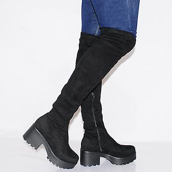 Koi Couture Ladies Nd37 Black Over Knee Boots