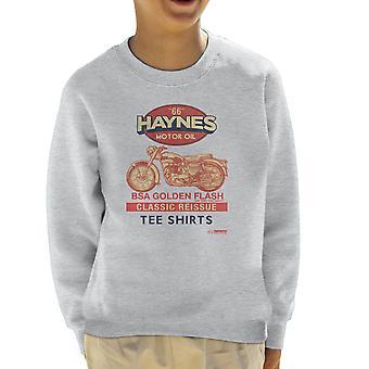 Haynes motorcykel BSA Golden Flash motorolja Kids tröja