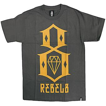 Carbone di rebel8 Logo t-shirt giallo