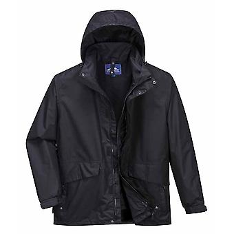 Portwest - Argo 3 in 1 Detachable Fleece Waterproof Jacket With Pack Away Hood