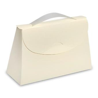 10 Large Ivory Silk Case Boxes 200mm x 75mm x 130mm - Party Favour Bags