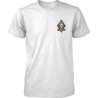 1st Recon Battalion USMC - Swift Silent Deadly - Military Insignia - Mens Chest Design T-Shirt