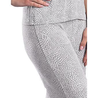 Slenderella Loungewear marfil y gris pijama Pant GL08714