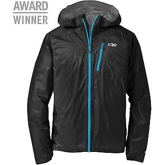 Outdoor Research Mens Helium II Jacket Black/Hydro (Large)