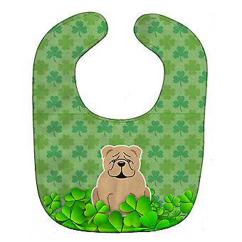 Carolines Treasures  BB6265BIB English Bulldog Fawn Shamrocks Baby Bib