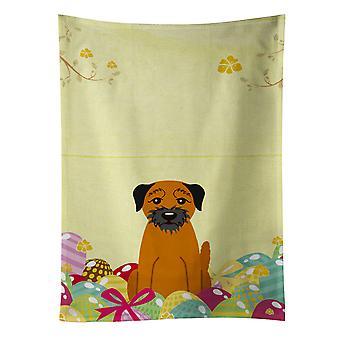 Carolines Treasures  BB6039KTWL Easter Eggs Border Terrier Kitchen Towel