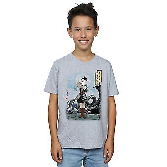 Star Wars Boys The Last Jedi Japanese Rey T-Shirt