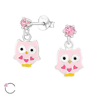 Hanging Owl crystal from Swarovski® - 925 Sterling Silver Children's Jewellery