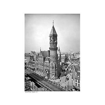 Jefferson Market Courthouse 1905 Poster Print (13 x 19)