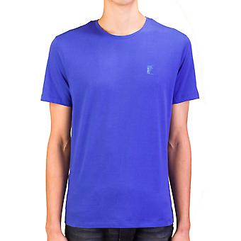 Versace Collection homme Medusa Logo Crew Neck T-Shirt bleu
