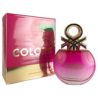 Benetton Colors Pink for Women 2.7 oz EDT Spray