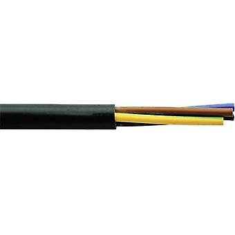 Flexible cable H03VV-F 2 x 0.75 mm² Black Faber Kabel