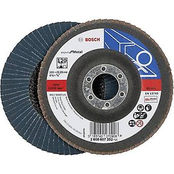 Flap disc - 115 mm, 22,23 mm, 120 Bosch Accessories 2608607352