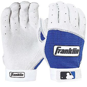 Franklin Youth Pro Classic MLB Batting Gloves - Pearl/Royal Blue