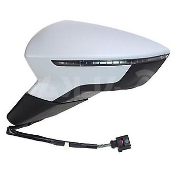 Left Mirror (electric heated indicator primed cover) for Seat LEON ST 2013-2017