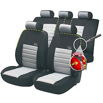 Sport Speed Car Seat Cover Black & Grey For Dacia LOGAN 2004-2012