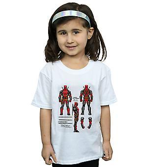 آعجوبة الفتيات Deadpool العمل الشكل خطط تي شيرت