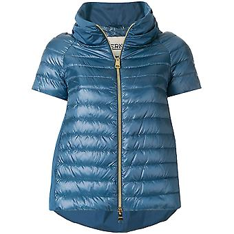 Herno women's PI0615D120179008 Blau polyester Quilted Jacket