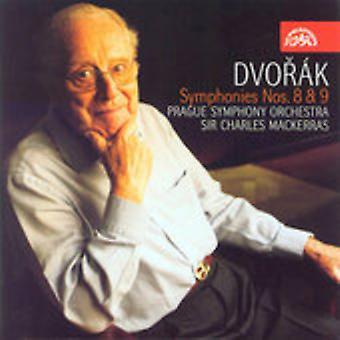 A. Dvorak - K: Dvor importación de USA de sinfonías núms. 8 & 9 [CD]