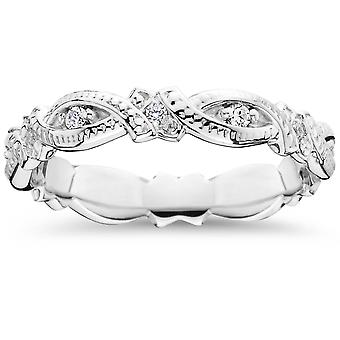 1 / 4ct Diamond Eternity Ring 14K White Gold