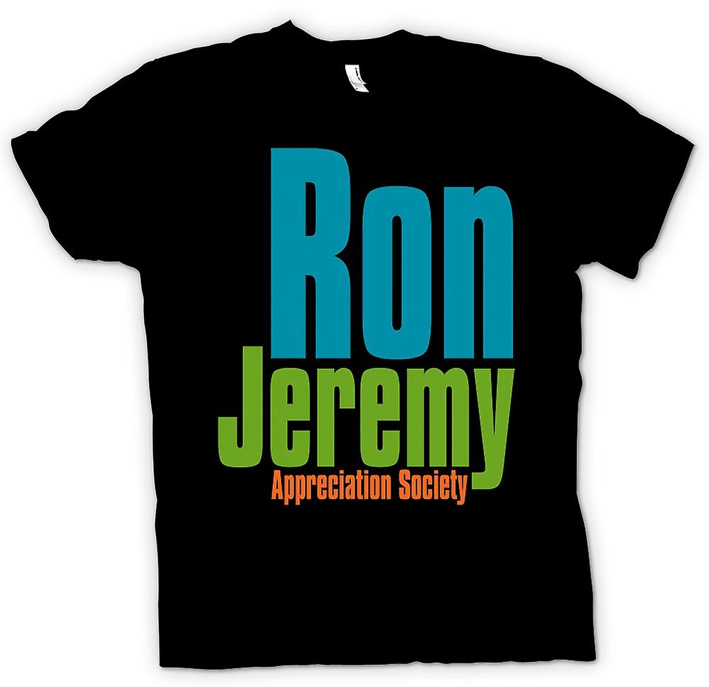 Mens T-shirt - Ron Jeremy Appreciation Society - Funny