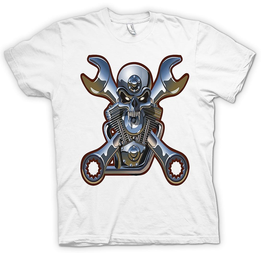 Heren T-shirt-Biker Engine Mechanic