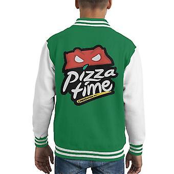 سترة إسكواش سلاحف النينجا سلاحف بيتزا هت شعار كيد