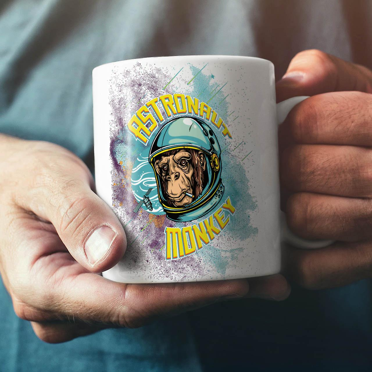 Astronaut Monkey Space NEW White Tea Coffee Ceramic Mug 11 oz | Wellcoda