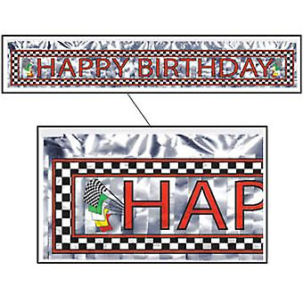 Happy Birthday transparent Mettalic Racing