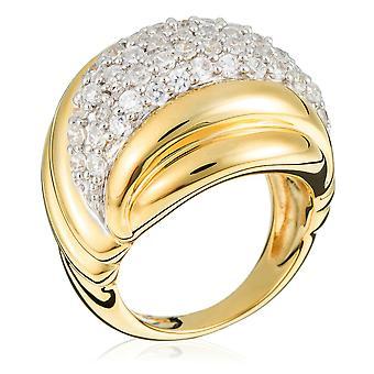 Orphelia Silver 925 Ring Multi Line  Zirconium   ZR-3615-GOLD