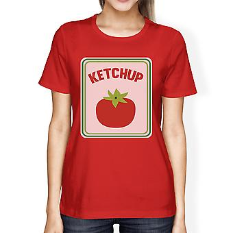 Ketchup Halloween Costume For Adults Womens Graphic Cotton Tshirt