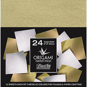 Origami Paper Pack-Metallic Mulberry 24 Sheets