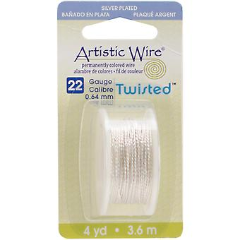 Artistic Wire Twisted-Non-Tarnish Silver - 22 Gauge, 4yd