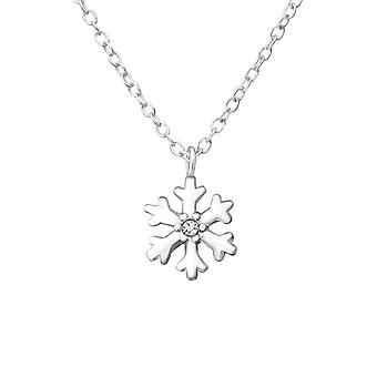 Snowflake - 925 Sterling Silver Jewelled Necklaces
