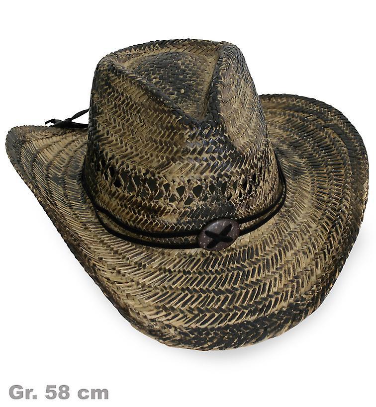 Cowboyhatt stråhatt halm lyx hatt