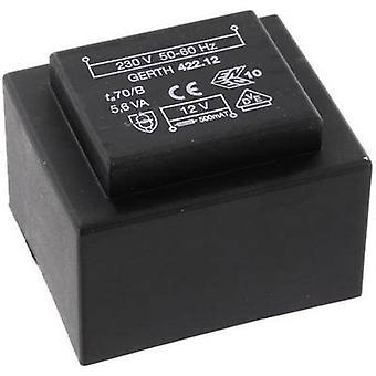 PCB mount transformer 1 x 230 V 2 x 18 V AC 5.60 VA 155 mA