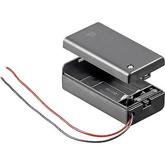 Goobay 48171 Battery tray 1x 9V PP3 Cable (L x W x H) 68.4 x 33.2 x 25.6 mm