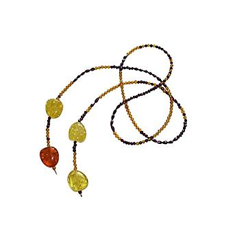 Amber ketting amber ketting FÖHR en Garnet ketting goud