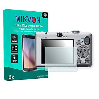 Canon PowerShot SD1200 IS Screen Protector - Mikvon Clear (Retail Package with accessories)