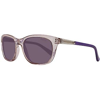 GUESS Damen Sonnenbrille Oval Transparent