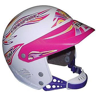 Famoso capacete rosa Júnior