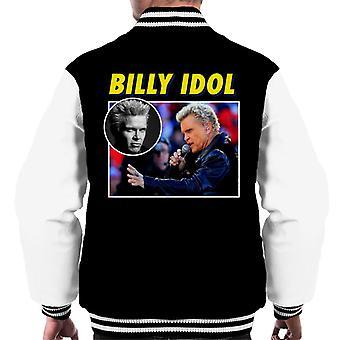 Billy Idol Tribute Montage Men's Varsity Jacket
