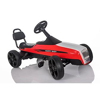 RideonToys4u Large Outdoor Pedal Go Kart With Manual Brake Lever Red Ages 5-12