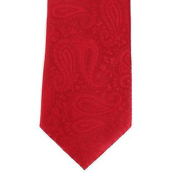 Michelsons of London Tonal Paisley Polyester Tie - Bright Red