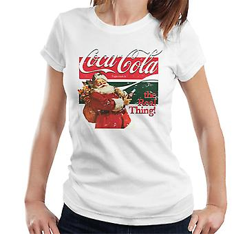 Coca Cola The Real Thing Christmas Women's T-Shirt