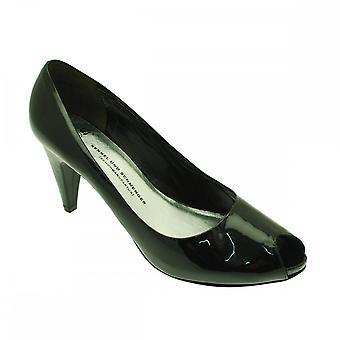 براءة شمينجير أوند تربية الكلاب زقزقة المحكمة إصبع القدم الأحذية مع منصة