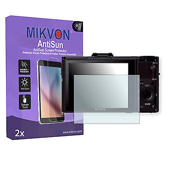 Sony DSC-RX100 II Screen Protector - Mikvon AntiSun (Retail Package with accessories)