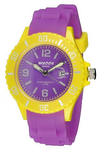 Waooh - Monaco38 Watch - Two Tone & Yellow